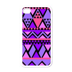 Seamless Purple Pink Pattern Apple iPhone 4 Case (White)