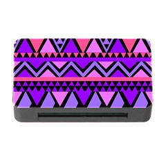 Seamless Purple Pink Pattern Memory Card Reader with CF