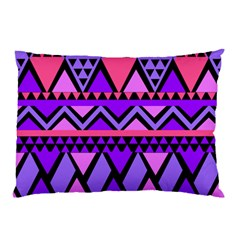 Seamless Purple Pink Pattern Pillow Case (Two Sides)