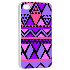 Seamless Purple Pink Pattern Apple iPhone 4/4s Seamless Case (White)