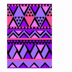 Seamless Purple Pink Pattern Small Garden Flag (Two Sides)