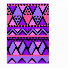Seamless Purple Pink Pattern Large Garden Flag (Two Sides)