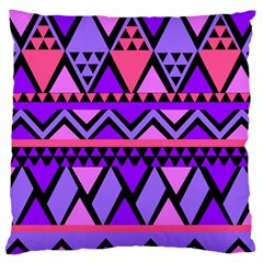 Seamless Purple Pink Pattern Large Cushion Case (Two Sides)