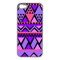 Seamless Purple Pink Pattern Apple iPhone 5 Case (Silver)