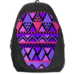 Seamless Purple Pink Pattern Backpack Bag