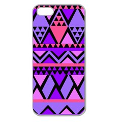 Seamless Purple Pink Pattern Apple Seamless iPhone 5 Case (Clear)