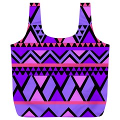 Seamless Purple Pink Pattern Full Print Recycle Bag (XL)