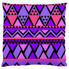 Seamless Purple Pink Pattern Large Flano Cushion Case (One Side)