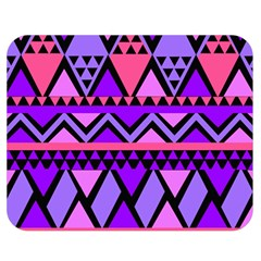 Seamless Purple Pink Pattern Double Sided Flano Blanket (Medium)