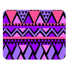 Seamless Purple Pink Pattern Double Sided Flano Blanket (Large)