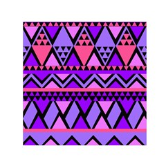 Seamless Purple Pink Pattern Small Satin Scarf (Square)