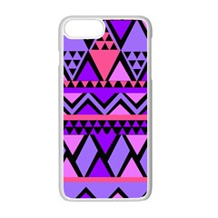 Seamless Purple Pink Pattern Apple iPhone 7 Plus Seamless Case (White)