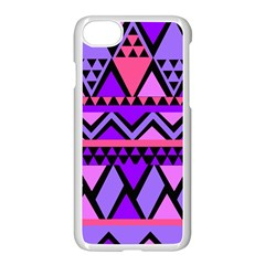 Seamless Purple Pink Pattern Apple iPhone 7 Seamless Case (White)