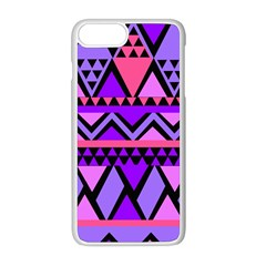 Seamless Purple Pink Pattern Apple iPhone 8 Plus Seamless Case (White)