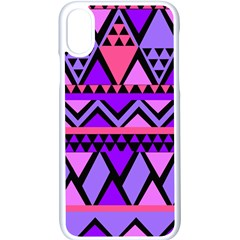 Seamless Purple Pink Pattern Apple iPhone X Seamless Case (White)