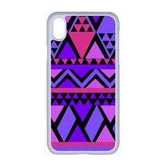 Seamless Purple Pink Pattern Apple Iphone Xr Seamless Case (white)