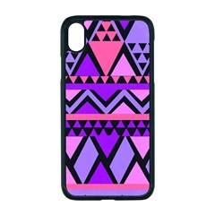 Seamless Purple Pink Pattern Apple Iphone Xr Seamless Case (black)
