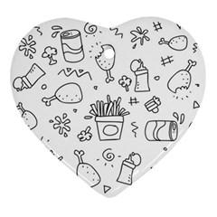 Set Chalk Out Scribble Collection Ornament (heart)