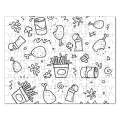 Set Chalk Out Scribble Collection Rectangular Jigsaw Puzzl