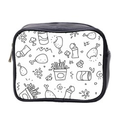 Set Chalk Out Scribble Collection Mini Toiletries Bag (two Sides)
