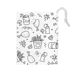 Set Chalk Out Scribble Collection Drawstring Pouch (large)