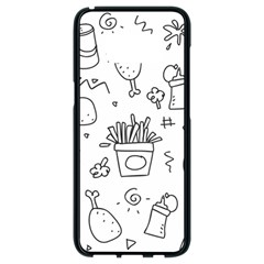 Set Chalk Out Scribble Collection Samsung Galaxy S8 Black Seamless Case