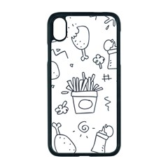 Set Chalk Out Scribble Collection Apple Iphone Xr Seamless Case (black)