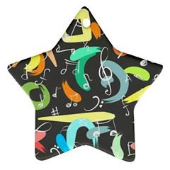 Repetition Seamless Child Sketch Ornament (star)