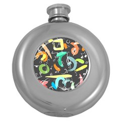 Repetition Seamless Child Sketch Round Hip Flask (5 Oz)