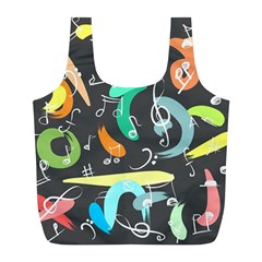Repetition Seamless Child Sketch Full Print Recycle Bag (l) by Pakrebo