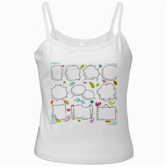 Set Chalk Out Chitchat Scribble Ladies Camisoles