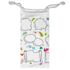 Set Chalk Out Chitchat Scribble Jewelry Bag