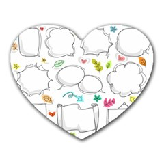 Set Chalk Out Chitchat Scribble Heart Mousepads