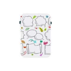Set Chalk Out Chitchat Scribble Apple Ipad Mini Protective Soft Cases