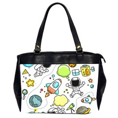 Sketch Cartoon Space Set Oversize Office Handbag (2 Sides) by Pakrebo