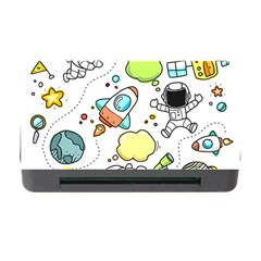 Sketch Cartoon Space Set Memory Card Reader With Cf