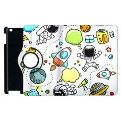 Sketch Cartoon Space Set Apple Ipad 3/4 Flip 360 Case