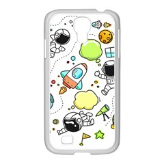 Sketch Cartoon Space Set Samsung Galaxy S4 I9500/ I9505 Case (white)