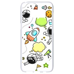 Sketch Cartoon Space Set Samsung Galaxy S8 White Seamless Case by Pakrebo