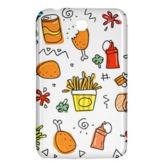 Cute Sketch Set Child Fun Funny Samsung Galaxy Tab 3 (7 ) P3200 Hardshell Case