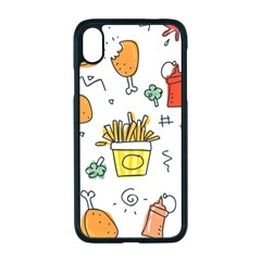 Cute Sketch Set Child Fun Funny Apple Iphone Xr Seamless Case (black)