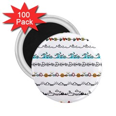 Decoration Element Style Pattern 2 25  Magnets (100 Pack)