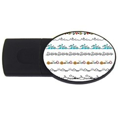 Decoration Element Style Pattern Usb Flash Drive Oval (2 Gb)
