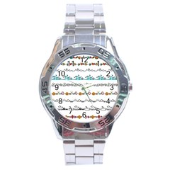 Decoration Element Style Pattern Stainless Steel Analogue Watch by Pakrebo