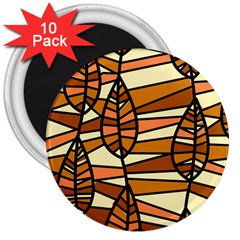 Autumn Leaf Mosaic Seamless 3  Magnets (10 Pack)