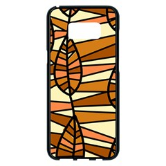 Autumn Leaf Mosaic Seamless Samsung Galaxy S8 Plus Black Seamless Case