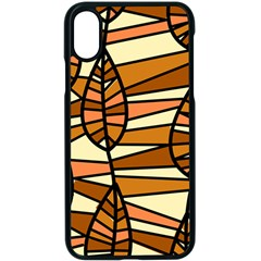 Autumn Leaf Mosaic Seamless Apple Iphone X Seamless Case (black)