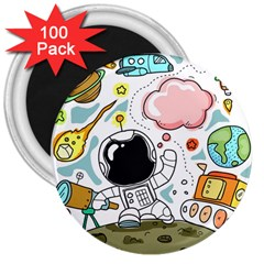 Sketch Cute Child Funny 3  Magnets (100 Pack)