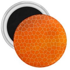 Orange Mosaic Structure Background 3  Magnets by Pakrebo