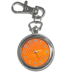 Orange Mosaic Structure Background Key Chain Watches